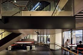 an elevation view of the new stair that links the floors and provides interaction space at anz head office melbourne