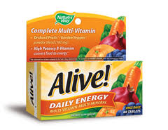 <b>Alive</b>! <b>Daily Energy</b> (with iron) 60 Tabs , made by natures-way