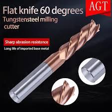 New 2018 Cutting HRC60 4 Flute <b>Milling Cutters</b> Tungsten Cobalt ...