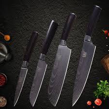 <b>XYj</b> Kitchen Knife Stainless Steel Set High Carbon Sharp <b>Damascus</b> ...