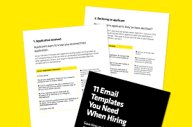 resource 11 email templates you need when hiring inside look at the pages of 11 email templates you need when hiring e