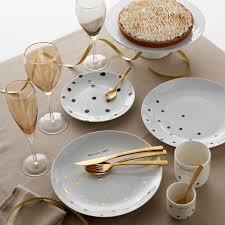 Комплект из <b>4 мелких</b> тарелок из фарфора, kubler черный в ...