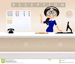 office receptionist clipart clipartfest receptionist in hotel stock