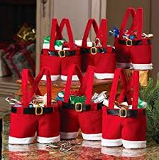 Disumos 6 Pcs Christmas Candy Bag Santa Pants Gift ... - Amazon.com