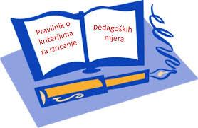 Slikovni rezultat za pravilnik o pedagoškim mjerama
