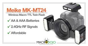 <b>Meike MK</b>-MT24 (Nikon/Canon/Sony) Wireless RF <b>Macro Twin</b> Flash ...