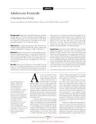 adolescent femicide adolescent medicine jama pediatrics the first page pdf preview