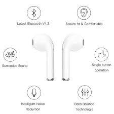 Online Shop <b>I7 i7s TWS Wireless</b> earphone in-ear Bluetooth ...