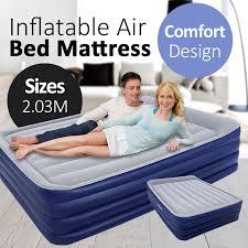 <b>Bestway</b> 2.03M Inflatable Nightright <b>Raised Queen</b> Air Bed Mattress ...