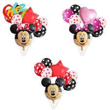 <b>8pcs</b> 18inch Minnie <b>Mickey</b> Mouse head Happy Birthday <b>Foil</b> ...