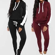 <b>2019 Women</b> 2pcs Knitted <b>Sports Sets</b> Sweater Tracksuit Slim ...