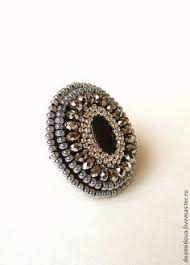 Кольцо с черным агатом – заказать на Ярмарке Мастеров ...