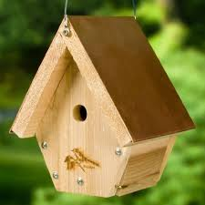 ideas about Bird House Plans on Pinterest   Birdhouses             WoodLink Wren House Cedar Bird House   Copper Roof   Coppertop Hanging Wren