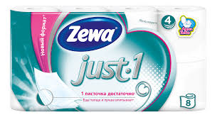 <b>Туалетная бумага</b> «<b>Just</b> 1» <b>Zewa</b>, 4 слоя 8 рулонов - купить по ...