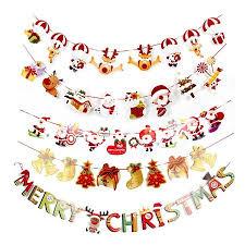 2019 hot selling <b>Christmas decoration</b> stana <b>cartoon</b> flag bunting ...