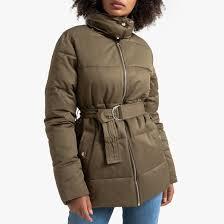 <b>Куртка</b> стеганая <b>средней</b> длины с ремешком хаки <b>La Redoute</b> ...