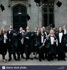 graduate students in graduation gowns throwing mortar boards into graduate students in graduation gowns throwing mortar boards into air after graduating ceremony at university aberdeen scotland