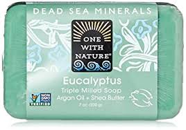 One with Nature Eucalyptus <b>Triple Milled</b> Dead Sea Bar <b>Soap</b>, 7 ...