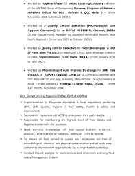 sudhakar    haccp  food safety hygiene manager cv