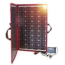 <b>Dokio</b> 100W Solar Panel 12V Monocrystalline foldable with Inverter ...