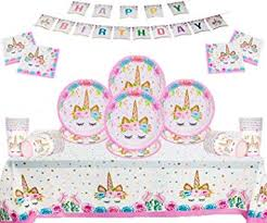 <b>Unicorn Party Supplies</b> Kids Birthday <b>Disposable</b> Party 50 Piece Set ...