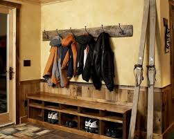 room furniture wooden storage shoe rackrustic style decoration vintage wall hooks in the rustic entry room with shoes stor