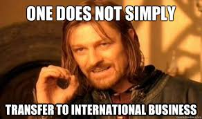 One Does Not Simply transfer to international business - Boromir ... via Relatably.com