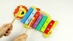 Ксилофон Львёнок <b>Alatoys</b> (Алатойс) - развивающие <b>деревянные</b> ...