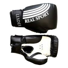 <b>Перчатки боксерские Leader</b> 4 унций, черный — купить в ...