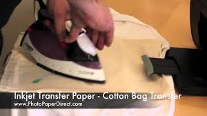 Iron On Transfer Paper Cotton <b>Bag</b> Tutorial By <b>Photo</b> Paper Direct ...