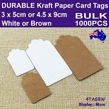 <b>Paper</b> TAG Kraft Price Label Card   BULK <b>1000pcs</b>   RELIABLE <b>Blank</b>