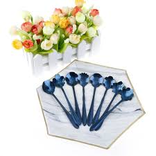 new <b>1pcs</b> Stainless Steel Blue Flower <b>Shape Cherry Blossom</b> ...