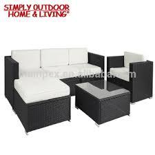 6 Pieces Aluminium Frame Rattan <b>Furniture</b> Corner Sofa Chair With ...