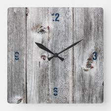 <b>Wood Plank Wall Clocks</b> | Zazzle