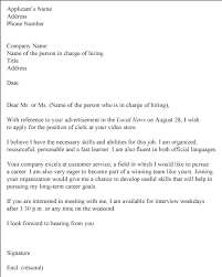 sample cover letter for resume samples of cover letter for cv
