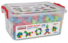 <b>Конструктор Pilsan Funny</b> Blocks 128 деталей - Акушерство.Ru