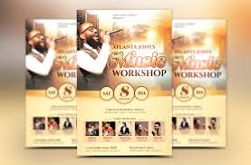 church music workshop flyer template by design bundles church music workshop flyer template example image 1