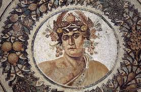 the theban stories dionysus from genius of year surrounded by four seasons mosaic from thysdrus el