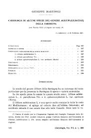 Cariologia di Alcune Specie del Genere Allium (Liliaceae) della ...