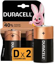 Щелочная <b>батарейка D</b>/LR20 2 шт DURACELL 4246592 в ...