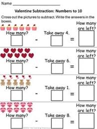 Subtraction worksheets, Worksheets and Spring theme on Pinterest18 Valentine themed addition & subtraction worksheets, sums/numbers to 10. Adding and