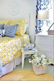blue and yellow guest bedroom love how bright a cheery this room is bedroomappealing geometric furniture bright yellow bedroom ideas