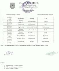 exam notice please to exam schedule attachment pre nur kg term1 2015
