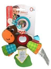 Купить <b>Подвесная игрушка Infantino</b> Коровка (5058) коричневый ...