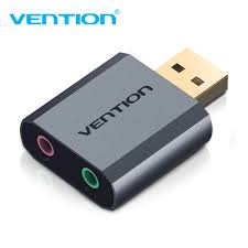 Vention USB Sound Card USB To <b>3.5mm</b> Audio Earphone Adapter ...
