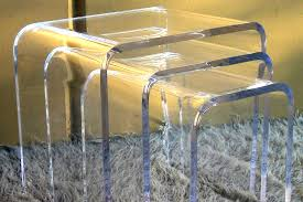 acrylic lucite lux waterfall nesting tables acrylic furniture lucite