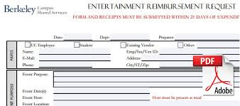 forms uc berkeley campus shared services personal ent button 2 · entertainment reimbursement claim form