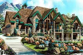 Luxury House Plans  Rustic Craftsman Home Design        middot  This image shows the beauty of this rustic Luxury House Plan