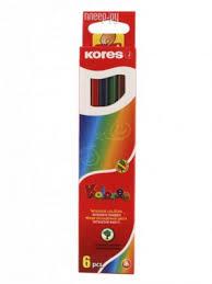 Купить <b>Карандаши цветные Kores 6</b> цветов 153052 по низкой ...