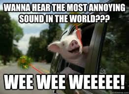 wanna hear the most annoying sound in the world??? wee wee weeeee ... via Relatably.com